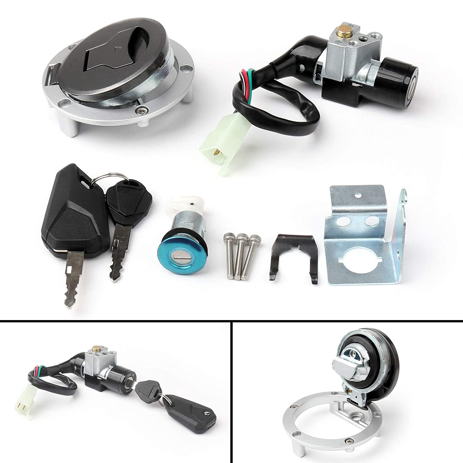 Artudatech Ignition Switch Seat Gas Cap Cover Lock Key Set For Honda GROM MSX125SF 2016