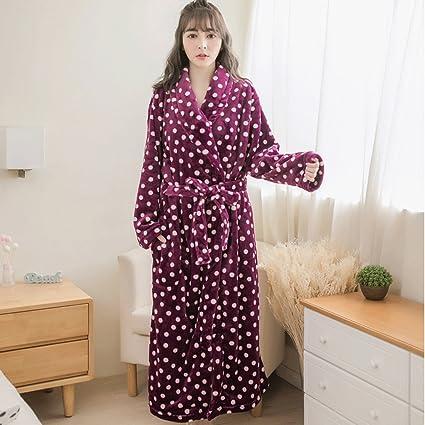 Albornoces GAOLILI Otoño Invierno temporada Señora pijamas de manga larga ropa de casa Sueño bata dulce