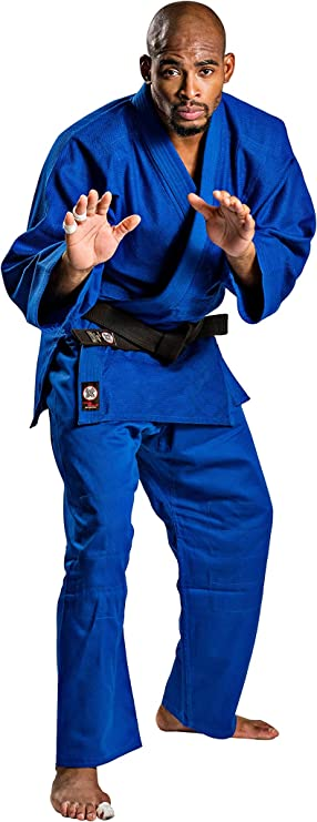 by Dax-sports Blue Single Weave Judo BJJ Gi 450gsm
