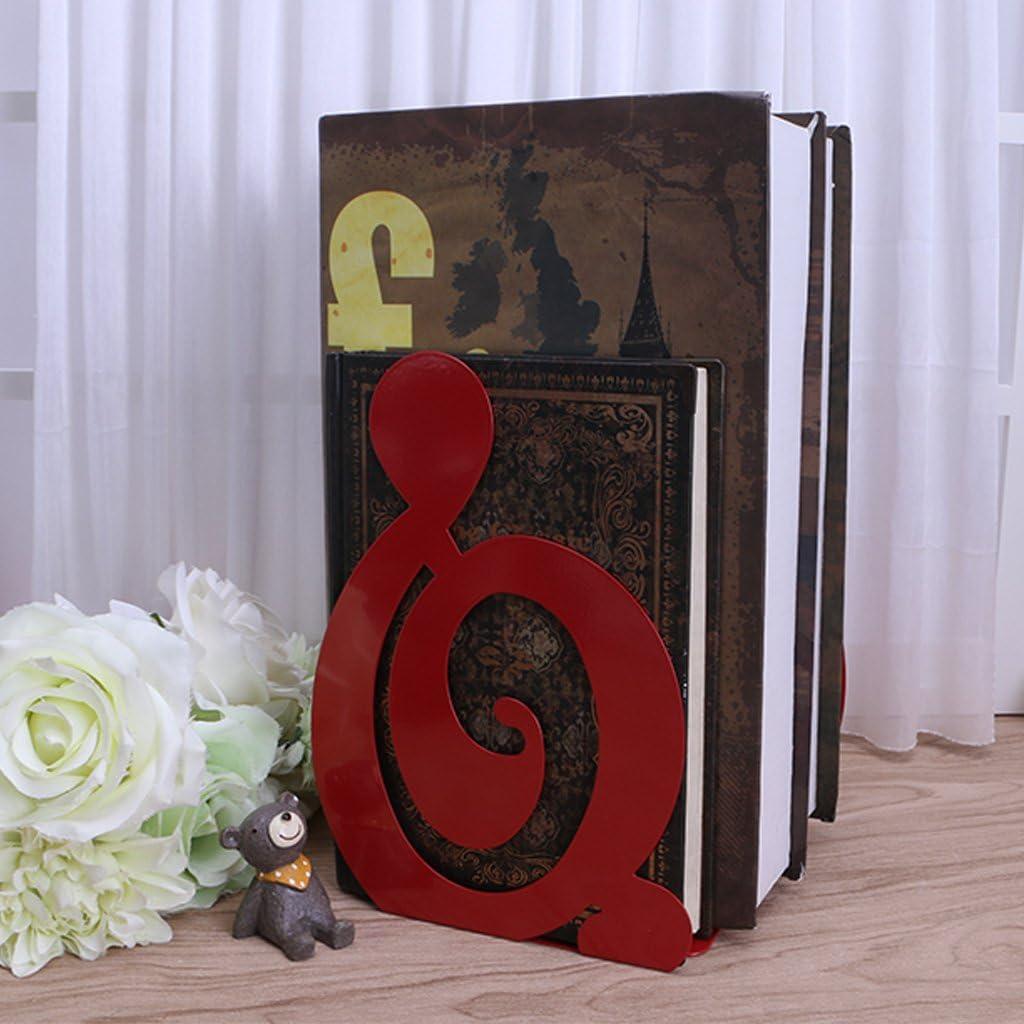 Lailongp Musical note metal Book Holder desktop cancelleria M 2 portariviste fermalibri ferro supporto da scrivania supporti per libri