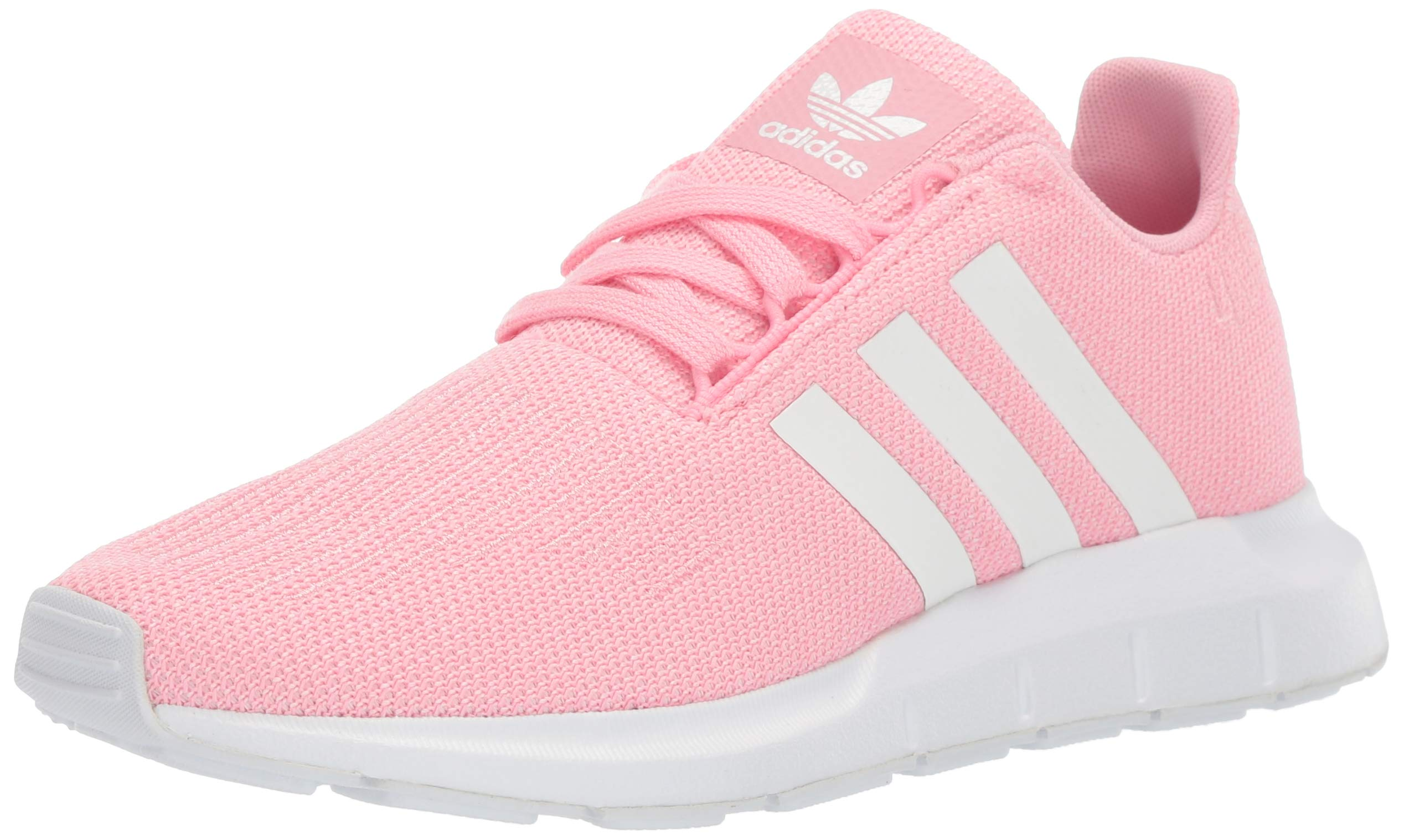 adidas Originals Unisex Swift Running Shoe Light Pink/White/White, 4 M US Big Kid