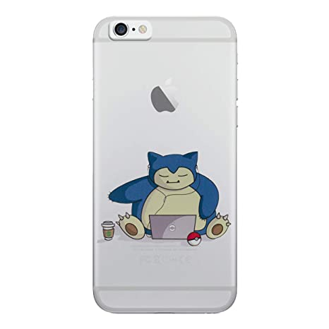iPhone 7 Pokemon Caja de Silicona / Snorlax Ordenador Portátil Cubierta de Gel para Apple iPhone