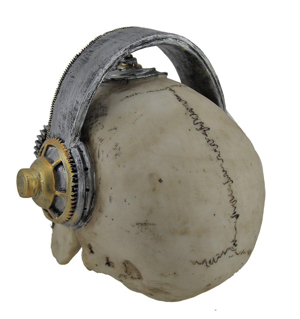 Zeckos Hi-fi Head Gothic Steampunk Skull Wearing Headphones Statue