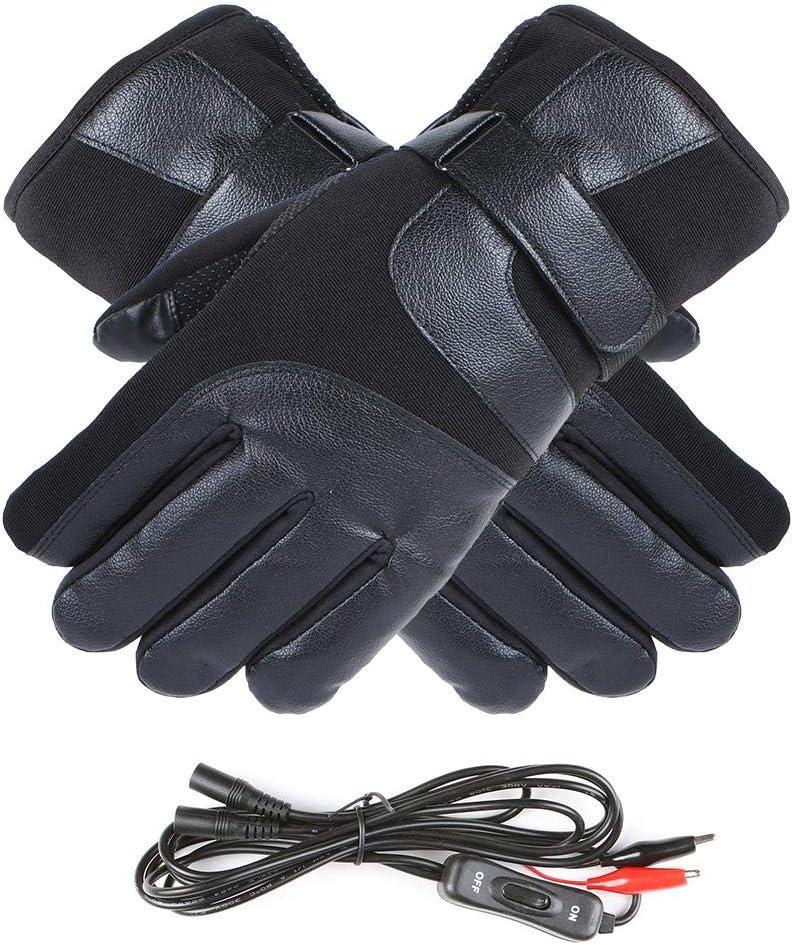 Guanti riscaldati caldi elettrici ricaricabili invernali,guanti touchscreen resistenti al calore con acqua touchscreen Guanti per moto allaperto per auto elettriche per scaldamani invernali allapert
