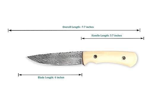 Amazon.com: Handcrafted Damasco Cuchillo De Caza – Full Tang ...