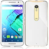 Moto X Pure Edition Case, PLESON® [Tou] Motorola Moto X Pure Edition / Moto X Style Case, Crystal Clear/ Lightweight/Exact Fit/NO Bulkiness Clear Back Panel+Bumper Case for Moto X Pure Edition (2015)