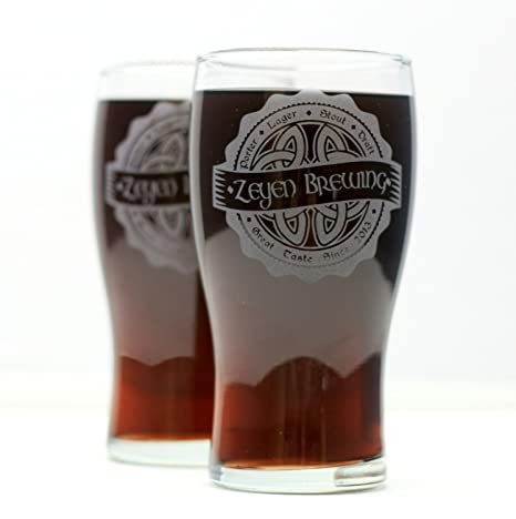 amazon com personalized beer gift two engraved pilsner beer