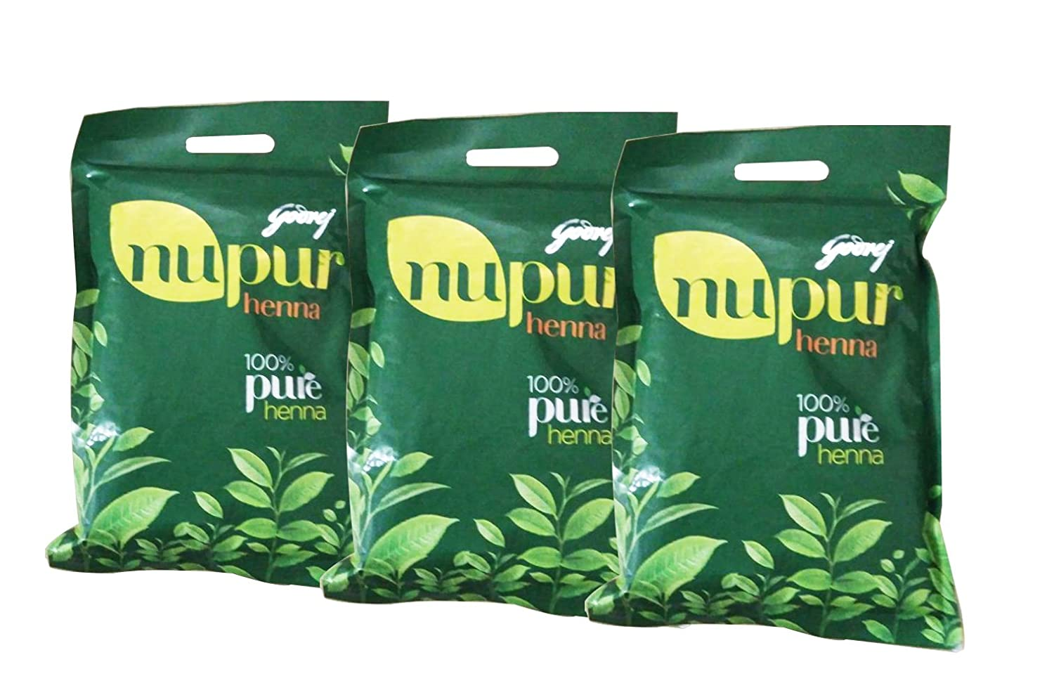 Godrej Nupur Natural Mehndi With Goodness Of 9 Herbs 400 Gm (Pack Of 3)