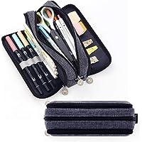 حقيبة أقلام رصاص كبيرة السعة 3 مقصورات من EASTHILL حقيبة أقلام كبيرة للتخزين من القماش للأولاد والبنات والطلاب حقيبة…