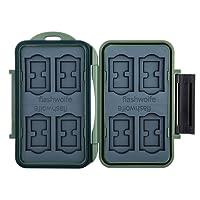 Flashwoife Turtle-SD8MSD16G spritzwasserdichte Speicherkarten Schutzbox, patentierte Aufnahme, 8 Stück SDHC und 16 Stück MicroSD Cards Case, olivgrün