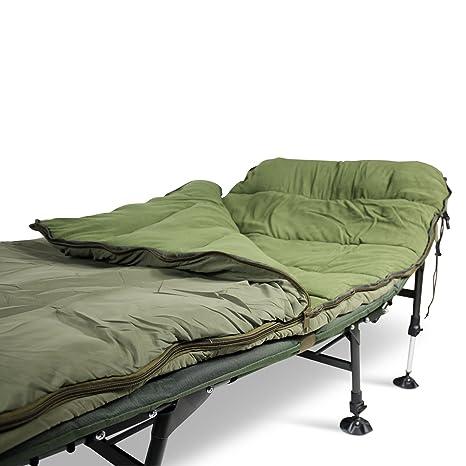 ABODE® AirtexxTM Saco de Dormir para Pesca de Carpas, 5 Estaciones, Relleno Hueco