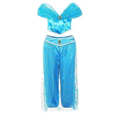 AmzBarley Disfraz Princesa Árabe Niña para Fiesta Cosplay Halloween Carnaval,Disfraz Infantil Angel Pantalones y Top Conjunt Traje: Ropa y accesorios