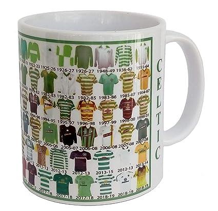 Celtic mug Celtic shirt History Mug Ceramic Mug football Mug SHIRTS THROUGH  THE AGES