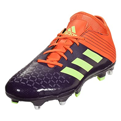size 40 2a400 d4fcc adidas Malice Elite SG Rugby Boots, Purple, US 9
