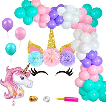 Kreatwow Unicorn Balloon Arch Kit Unicorn Telón de Fondo ...