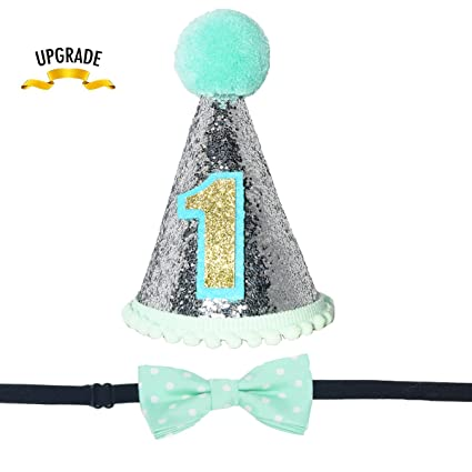 Image Unavailable Not Available For Color Maticr Sparkly Princess 1st Birthday Cone Hat