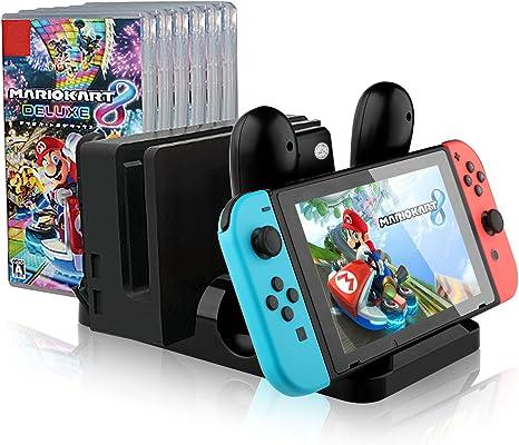 IVSO Nintendo Switch Joy con Base de Carga, estación de Carga ...