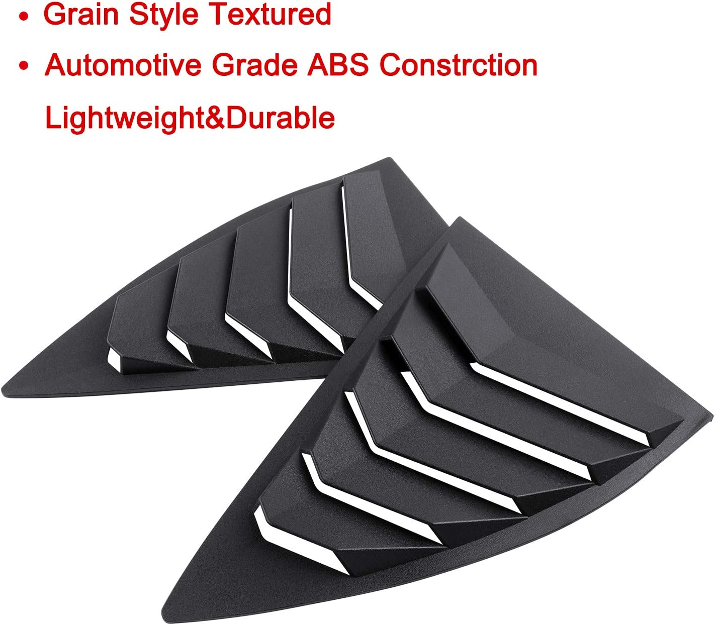 Dixuan Auto Parts Rear Window Louvers Windshield Sun Shade Cover Lambo Style Matte Black for Chevrolet Chevy Camaro 2016 2017 2018 2019