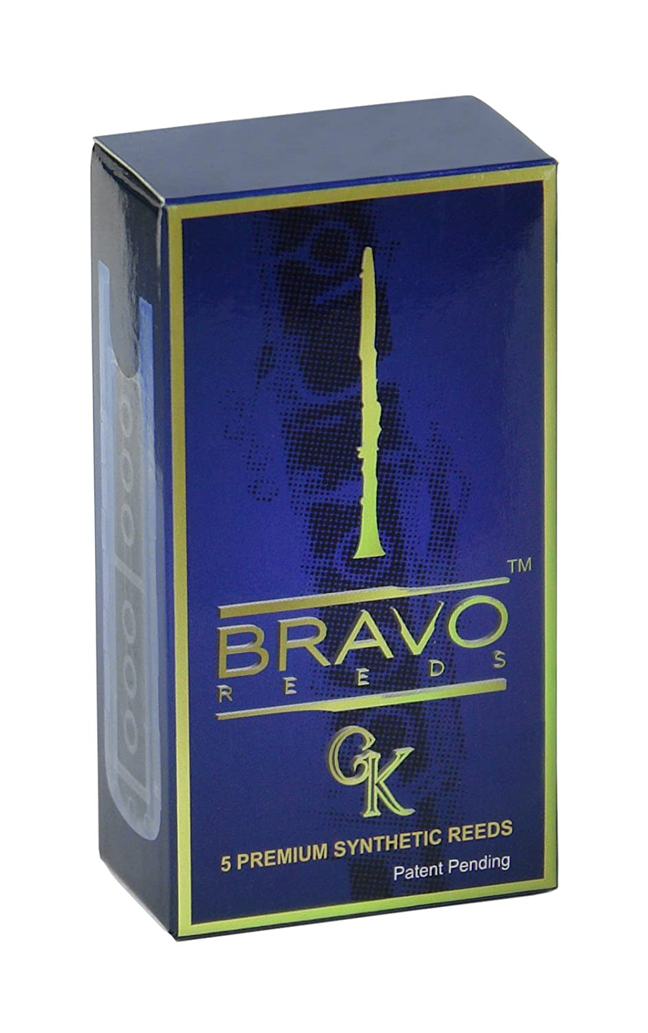 Bravo Synthetic Reeds for Bb Clarinet - Strength 3.0 (Box of 5), Model BR-C30