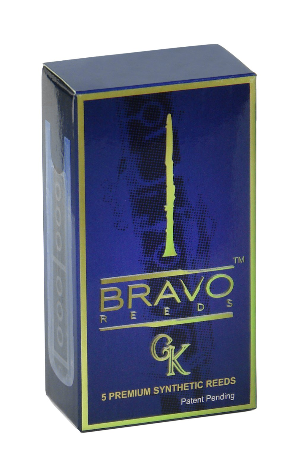 Bravo Synthetic Reeds for Bb Clarinet - Strength 3.5 (Box of 5), Model BR-C35