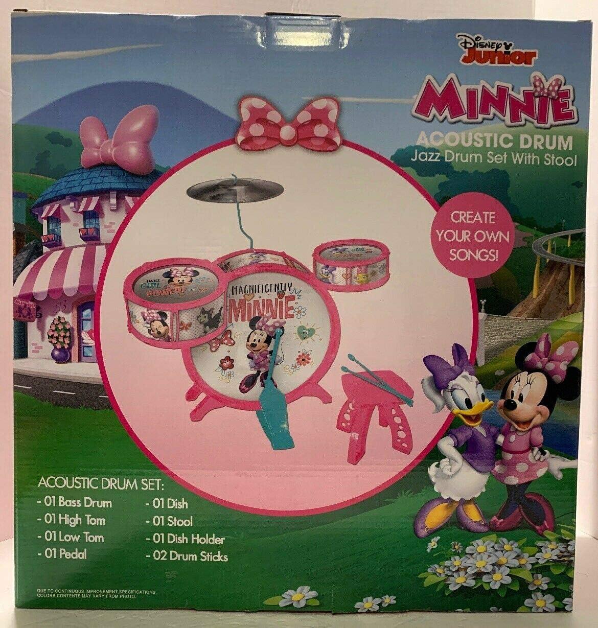 Disney Junior Minnie Mouse Jazz Drum Set with Stool
