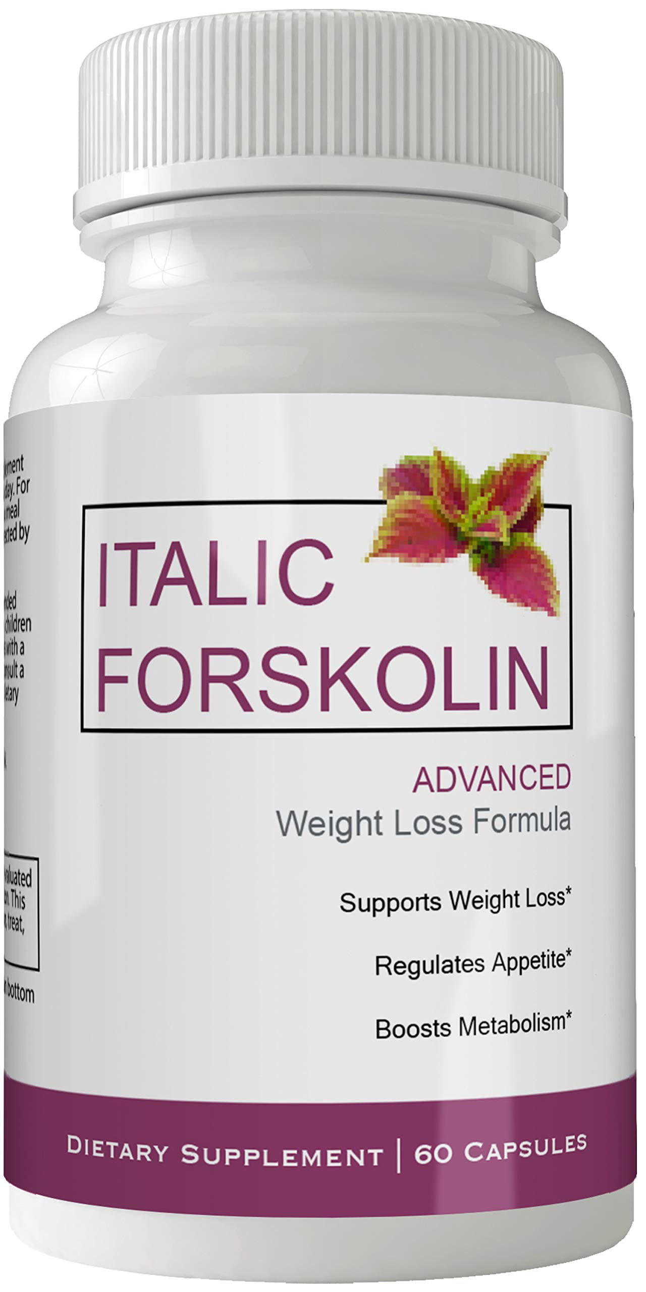 Italic Forskolin Supplement for Weight Loss Capsules with Natural High Quality Pure Forskolin Extract Diet Pills by nutra4health LLC