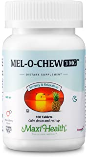 Amazon.com: Melatonin 500 mcg Fast Meltz Fruit Flavored Tablets, 60 ...