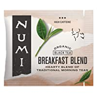 Numi Organic Tea Breakfast Blend, 100 Count Box of Tea Bags, Black Tea (Packaging...