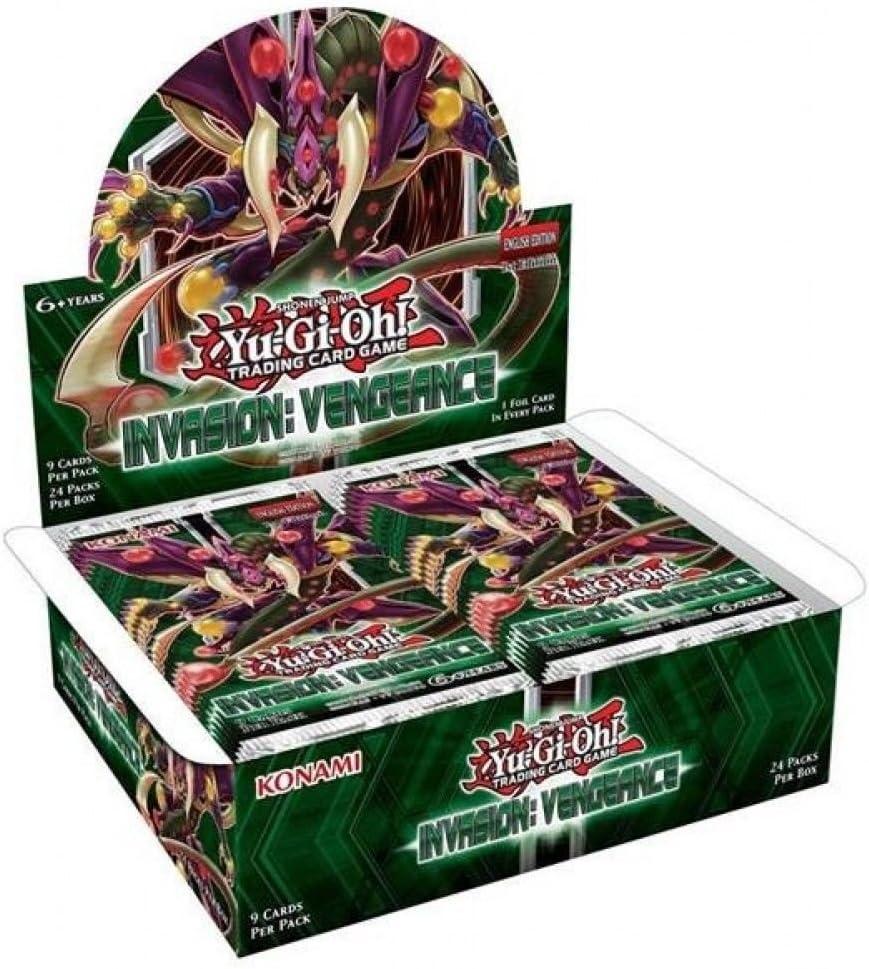 Pack de 24 YU-GI-OH YGO-Inov-en Bo/îte avec Cartes suppl/émentaires Invasion Vengeance