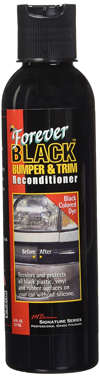 Forever Car Care Products ***New & Improved*** Forever BLACK Bumper & Trim Reconditioner - 6 oz Single FB060