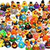 Pull Together 100 Pack Rubber Duck Bath Toy Assortment - Bulk Floater Duck for Kids - Baby Showers Accessories - Party…