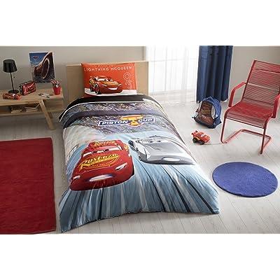 wellstil %100 Cotton Disney Car's 3 Kid's Duvet/Quilt Cover Set Single/Twin Size Kids Bedding: Kitchen & Dining