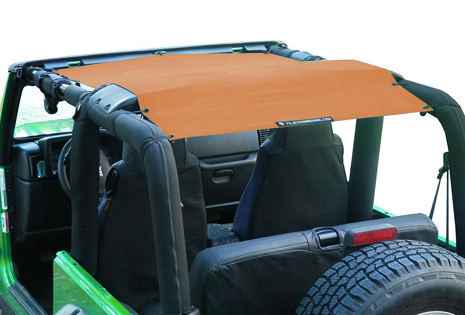 Lava 1997-2006 ALIEN SUNSHADE Jeep Wrangler Mesh Shade Top Cover with 10 Year Warranty Provides UV Protection for Your TJ