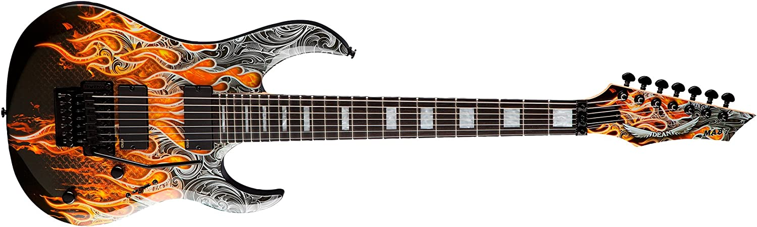 Dean MAB7 7 cuerdas guitarra Batio Warrior Michael Angelo funda de ...
