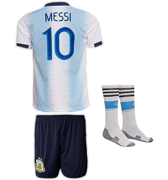 Tallas 2-14 a/ños Camiseta de f/útbol para ni/ños JTex Argentinien 2019-20 Messi dise/ño de Messi