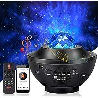 Mixigoo Led-sterrenhemel projector, roterende watergolven, nachtlampjes, oceaangolven, Galaxy projector met…