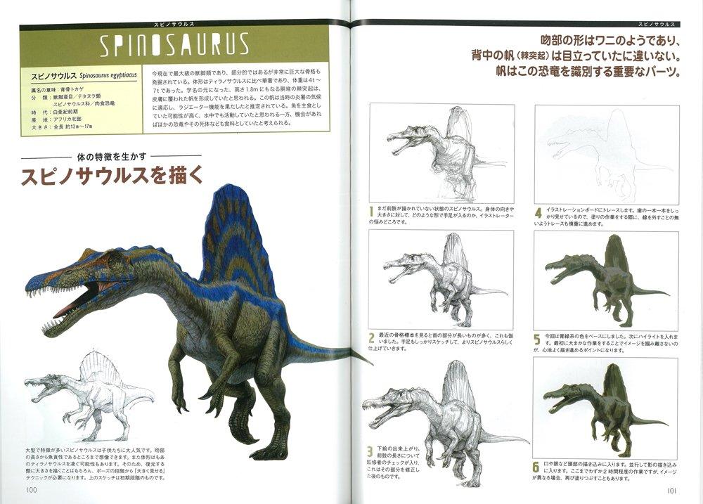 恐竜の描き方 ドラゴンクリーチャーのファンタジー表現にも応用できる