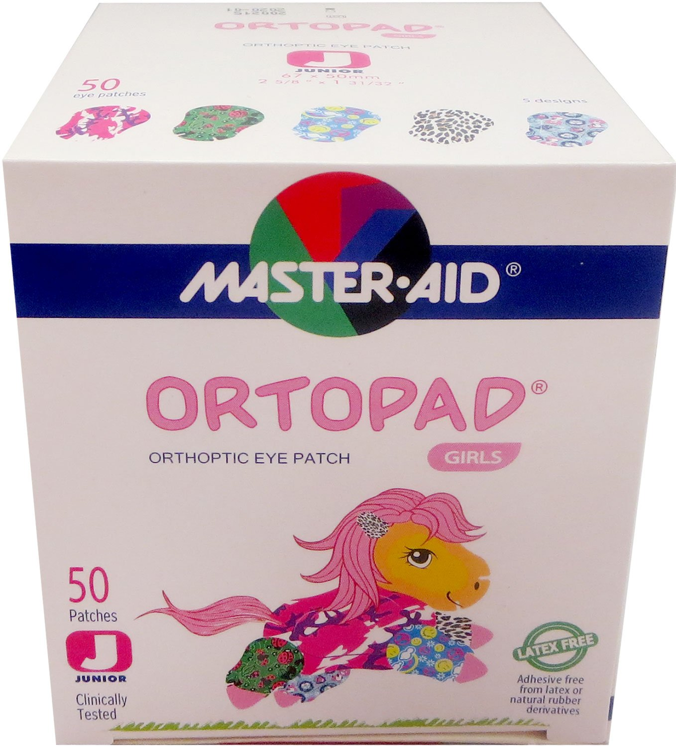 Ortopad Girls Eye Patches - Junior Size (50 Per Box): Amazon.es: Deportes y aire libre