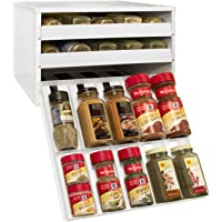 YouCopia Chefs Edition SpiceStack 30-Bottle Spice Organizer with Universal Drawers (White)