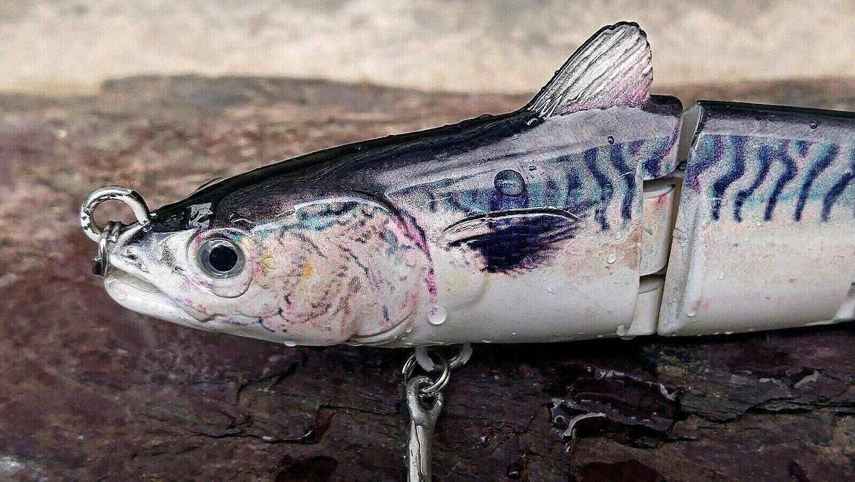 Leurre articul/é Big Bass Pike King Mackerel 150 mm 31 g 0,5 m # 4 BKB