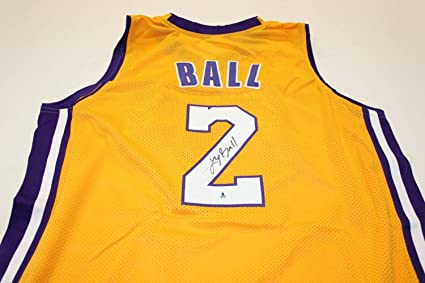 fb3dbaaaa Lonzo Ball Autographed Signed Memorabilia Los Angeles Lakers Jersey Beckett  Coa Autographed Signed