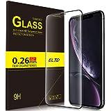 ELTD iPhone Xr  ガラスフィルム  強化ガラス 2018 年新発売6.1インチiPhone Xr 保護フィルム スクラッチ防止 気泡ゼロ 指紋防止 高硬度9H 日本語説明書付き 割れたら交換 365日 ブラック