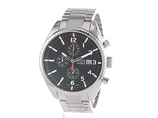 Amazon.com: ESQ Movado Mens 07301427 esq CATALYST tm Black Dial Chronograph Watch: Watches