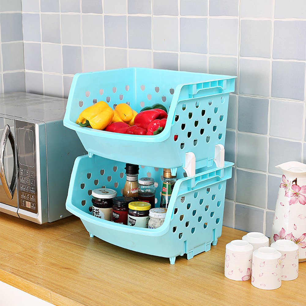 Amazon.com: Plastic Fruit & Vegetable Storage Box, Multi-purpose ...