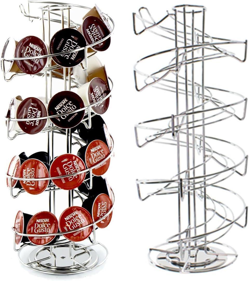 40 espiral rotación de Pod Disco Soporte rack para Nescafe Dolce ...