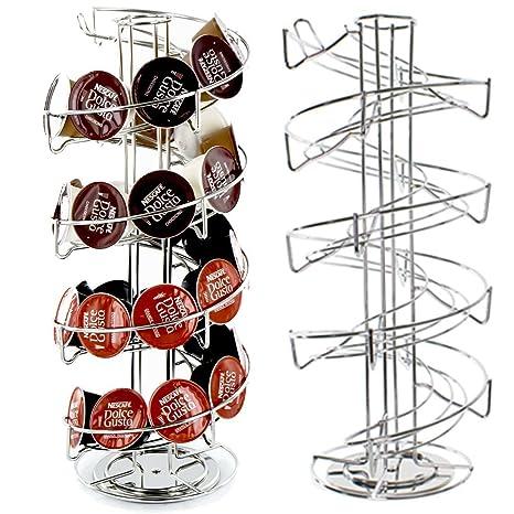 40 espiral rotación de Pod Disco Soporte rack para Nescafe Dolce Gusto Nespresso y Tassimo Máquinas