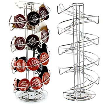 40 espiral rotación de Pod Disco Soporte rack para Nescafe Dolce Gusto Nespresso y Tassimo Máquinas de café (40 dispensador de cápsulas Torre): Amazon.es: ...