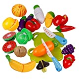 Amazon Price History for:Catnew Children Kids Play Toys Kitchen Plastic Fruit Vegetable Pretend Reusable Role Play Cutting Set