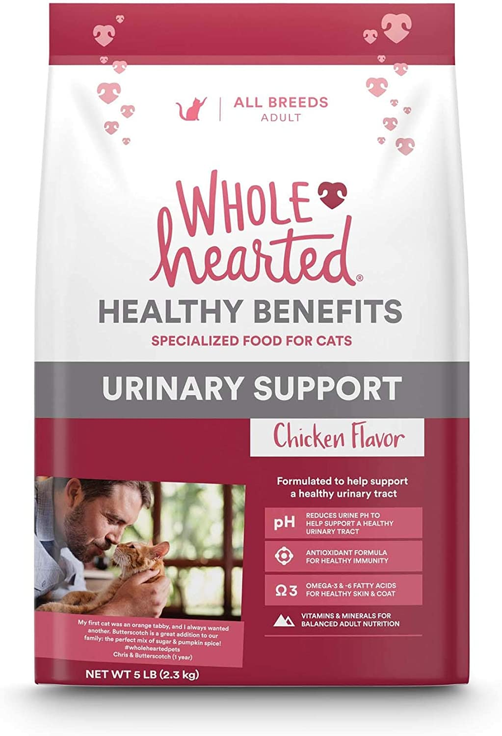 WholeHearted Urinary Support Chicken Flavor Dry Cat Food, 5 lbs. by PETCO