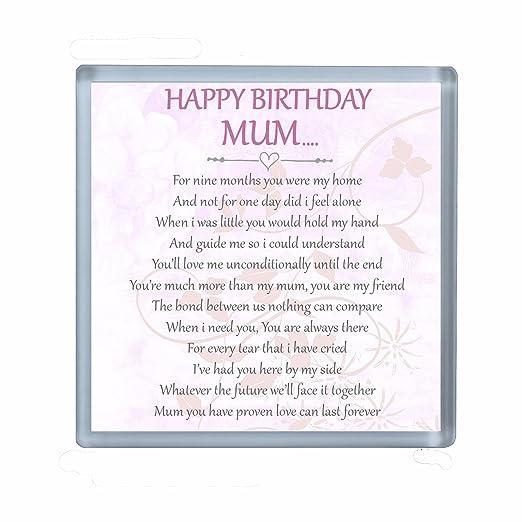 Feliz cumpleaños mamá poema bebidas posavasos ideal regalo ...